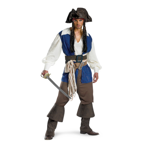 Captain Jack Sparrow Deluxe Adult
