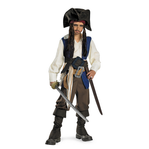 Captain Jack Sparrow Deluxe Child