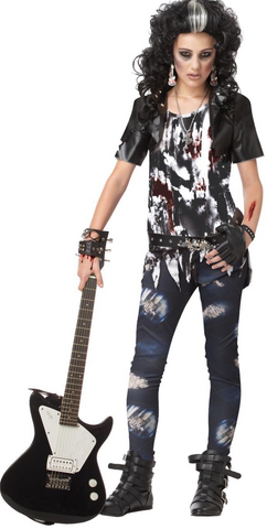 Rocked Out Zombie-Juniors Costume