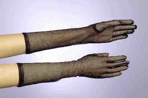Fishnet Gloves-Black