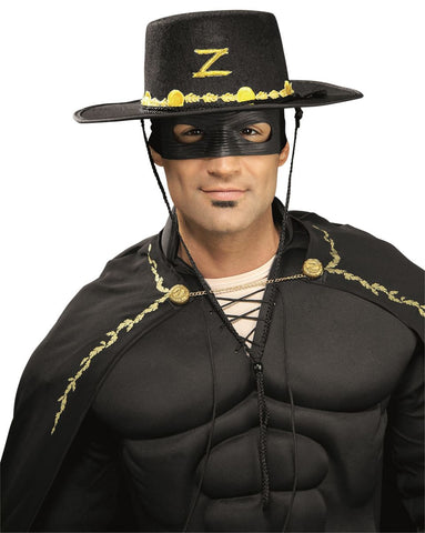 Zorro Hat & Eye Mask Kit-Adult