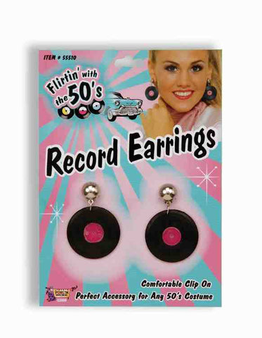 1950's Record Earrings-Adult