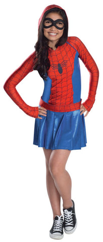 Spider-Girl Hooded Dress Child Costume