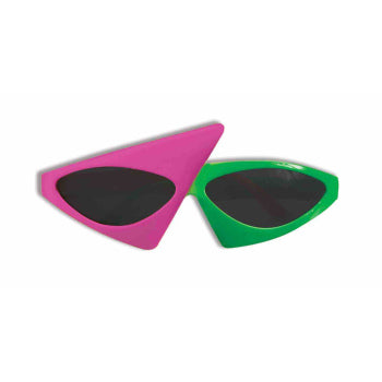 2 TONE GLASSES-NEON PINK/GREEN