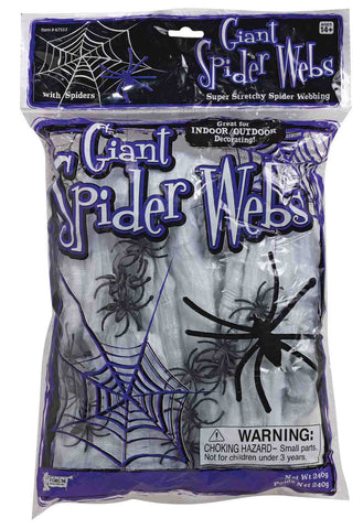 SPIDER WEB-12SPIDERS-WHT-240GR