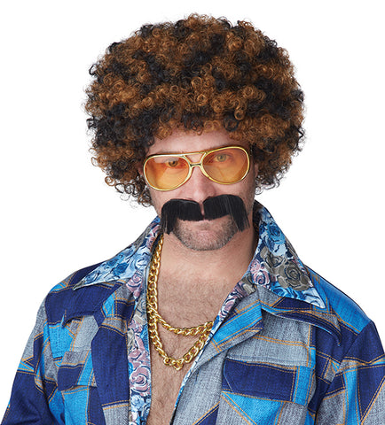Disco Dirtbag Wig and Mustache