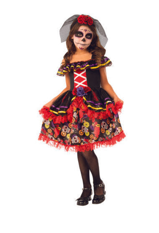 Day of the Dead Girl-Child Costume