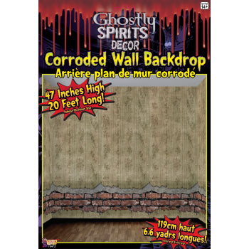 Ghostly Spirits-Corroded Wall Backdrop