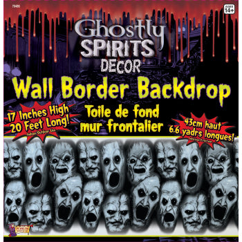 Ghostly Spirits Border-Screaming Faces