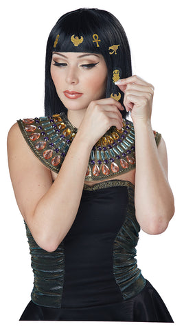 Hair-O-Glyphics Egyptian Wig-Black