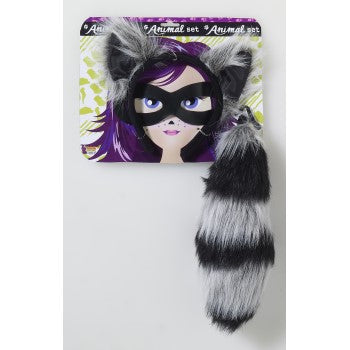 Racoon Headband & Tail-Child