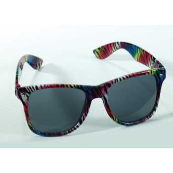 Glasses-Rainbow Zebra