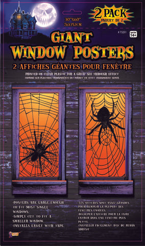 Window Poster-Spider Web