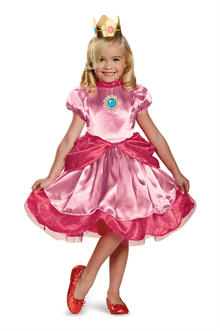 Super Mario Brothers Princess Peach-Toddler Costume - ExperienceCostumes.com