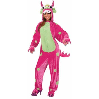 Onesie Hot Pink Monster-Adult