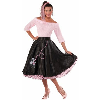 1950's Poodle Black Skirt-Adult Costume Accessory