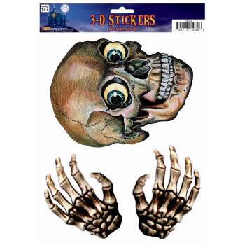 Skull & Hands Window Stickers-3D