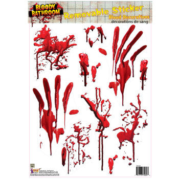Window Cling -Bloody Bathroom Tile