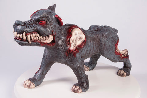 DECOR-BLOW MOLDED EVIL DOG