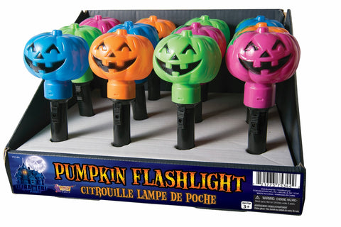 PUMPKIN FLASHLIGHTS ASST COLOR