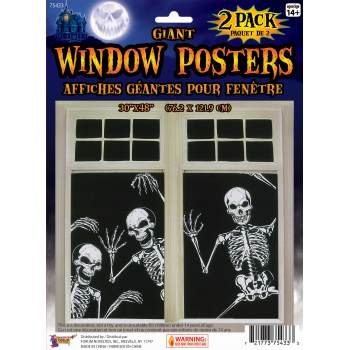 GIANT SKELETON WINDOW POSTER