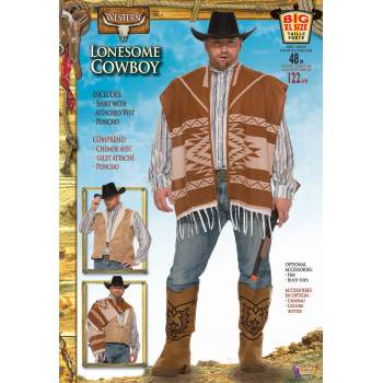 Western Lonesome Cowboy-Adult Plus Costume