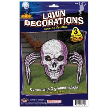 Skull lawn decoration 3pc