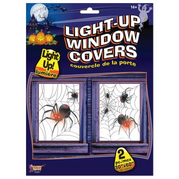 LIGHT UP WINDOW COVER-SPIDERS