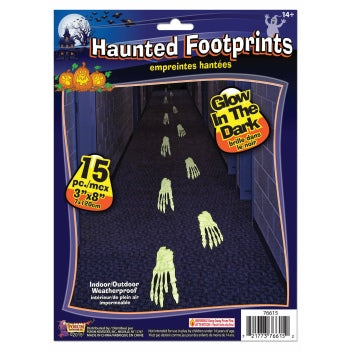 Haunted Glow in Dark Footprints