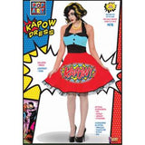 Pop Art Kapow Dress-Adult Costume