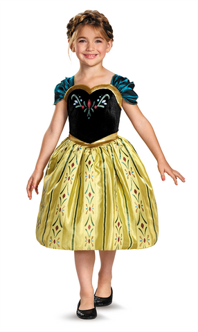 Frozen Anna Coronation Gown-Child Costume - ExperienceCostumes.com