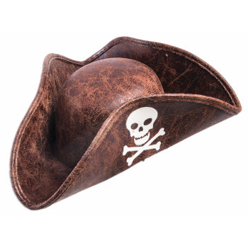 HAT - MINI BROWN PIRATE