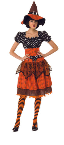 Polka Dot Witch-Adult Costume