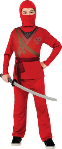 Red Ninja-Child Costume