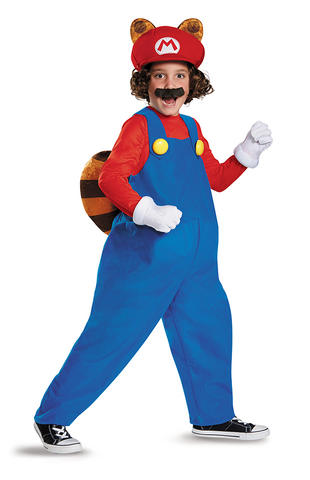 Mario Raccoon-Child Costume