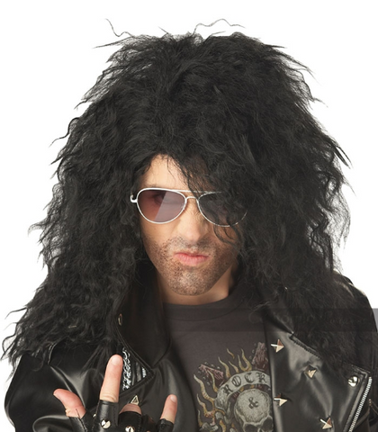 Heavy Metal Rocker Wig-Black