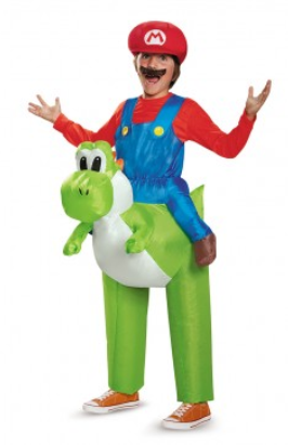 Mario Riding Yoshi Inflatable-Child