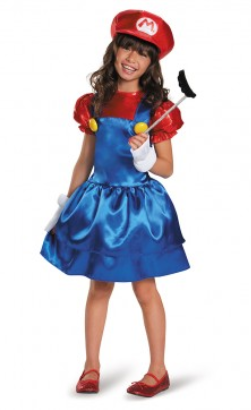 Super Mario Brothers Mario Girls Deluxe-Child Costume