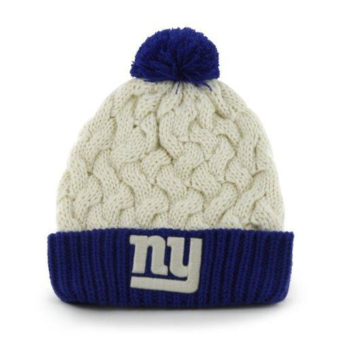 NY Giants Cable Knit Hat-Womens