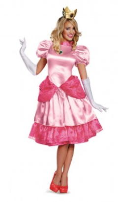 Super Mario Brothers Princess Peach Deluxe-Adult Costume