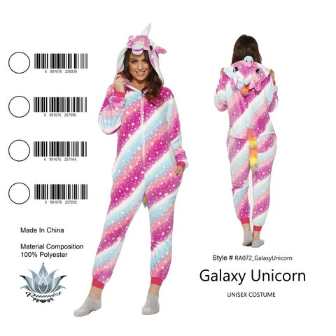 Onesie Galaxy Unicorn-Adult Costume