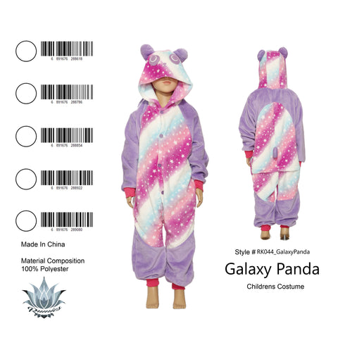 Onesie Galaxy Panda-Child Costume