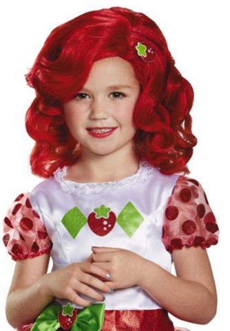 Strawberry Shortcake Deluxe Wig-Child Costume Accessory