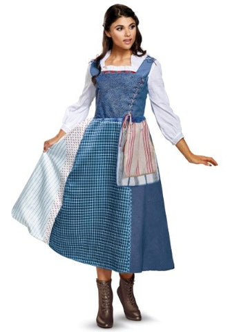 Beauty and the Beast Belle Village Dress Deluxe-Adult Costume