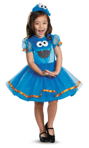 Sesame Street Cookie Monster Tutu Deluxe Dress-Child Costume