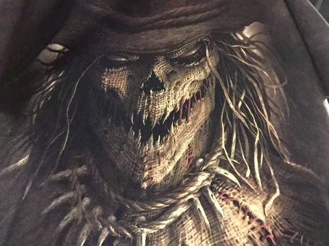T-Shirt Scary Scarecrow Face-Adult