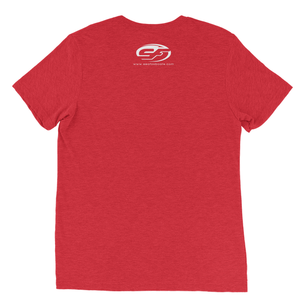 Sea Fox Boat Company logo T-shirt – Vintage Red