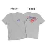 Sea Fox Boat Company American Flag logo T-shirt – Vintage Grey