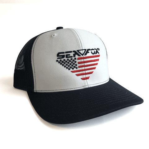 Sea Fox American Flag logo Hat