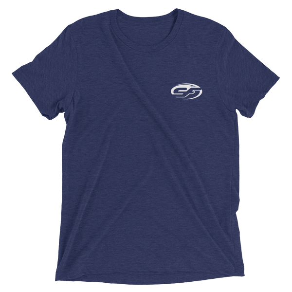 Sea Fox Boat Company American Flag logo T-shirt – Navy Blue